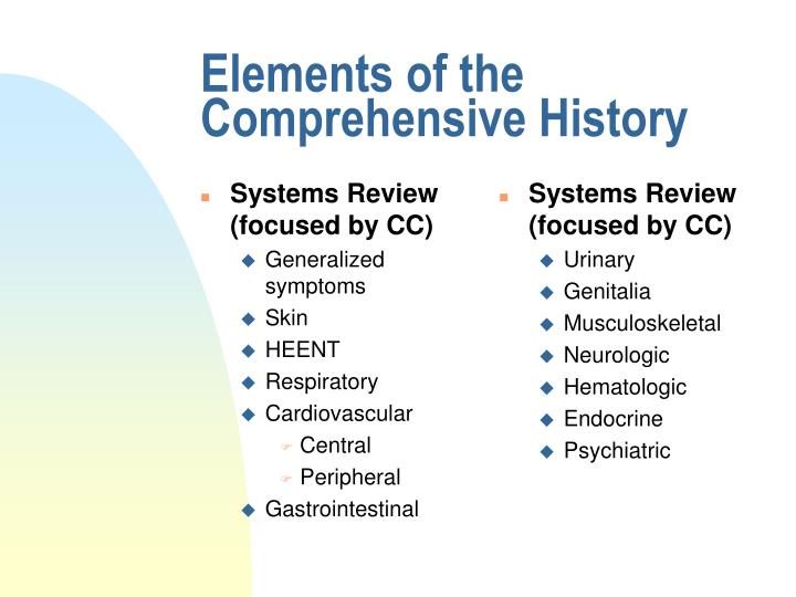 Systems Review (focused by CC)