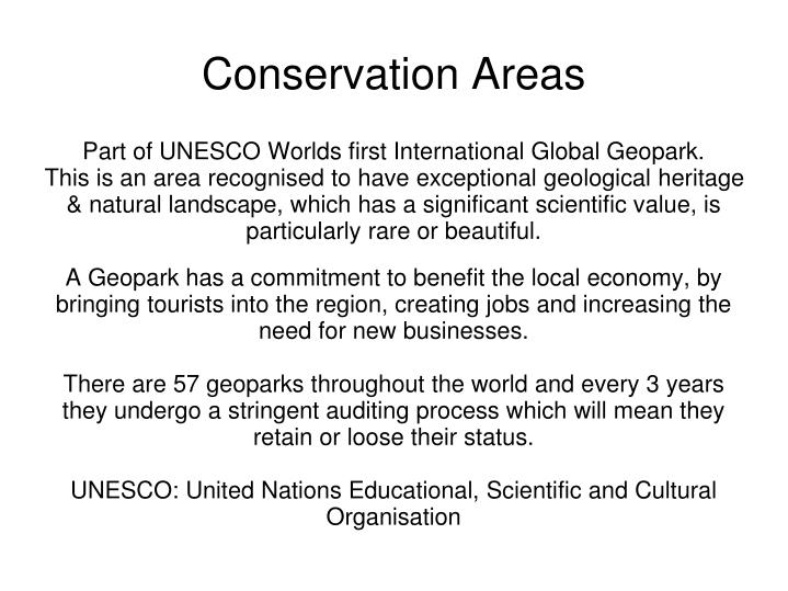 conservation areas n.
