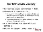 our self service journey