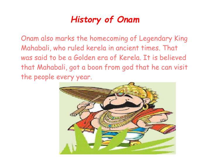Onam celebrations.