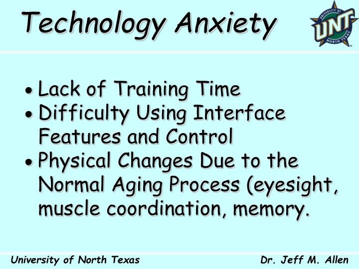Technology Anxiety