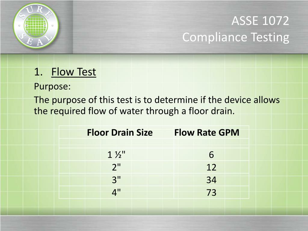 PPT - Floor Drain Trap Seal Protection PowerPoint