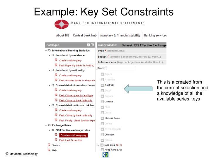Example: Key Set Constraints