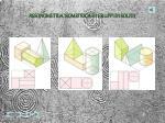 assonometria isometrica di gruppi di solidi