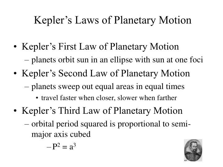 Kepler s laws of planetary motion
