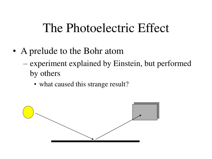 The Photoelectric Effect
