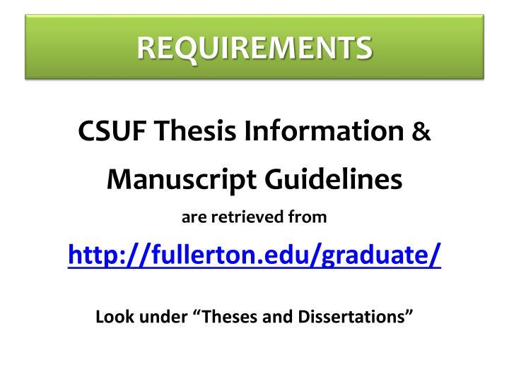 thesis deadline csuf