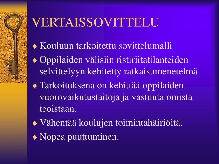 VERTAISSOVITTELU