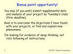 bonus point opportunity