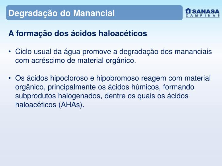 Degradação do Manancial