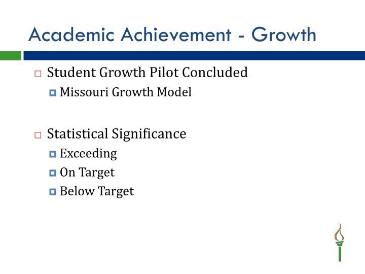 Academic Achievement - Growth