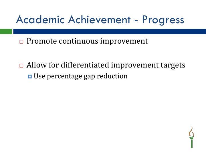 Academic Achievement - Progress