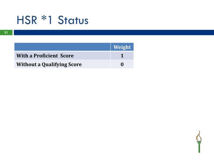 HSR *1 Status