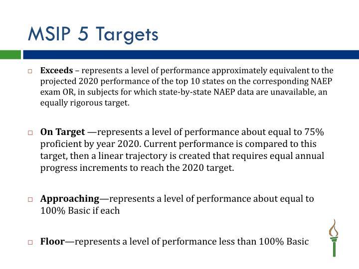 MSIP 5 Targets