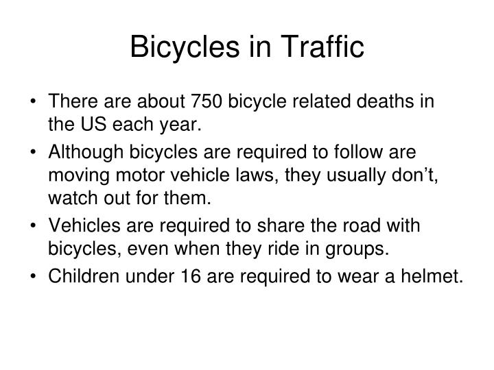 Bicycles in Traffic