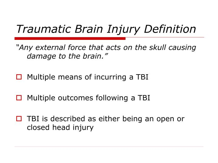 definition of a brain injury