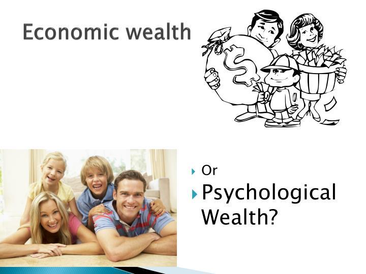 Economic wealth