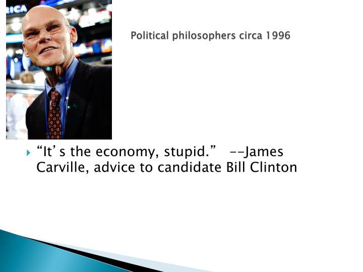 Political philosophers circa 1996