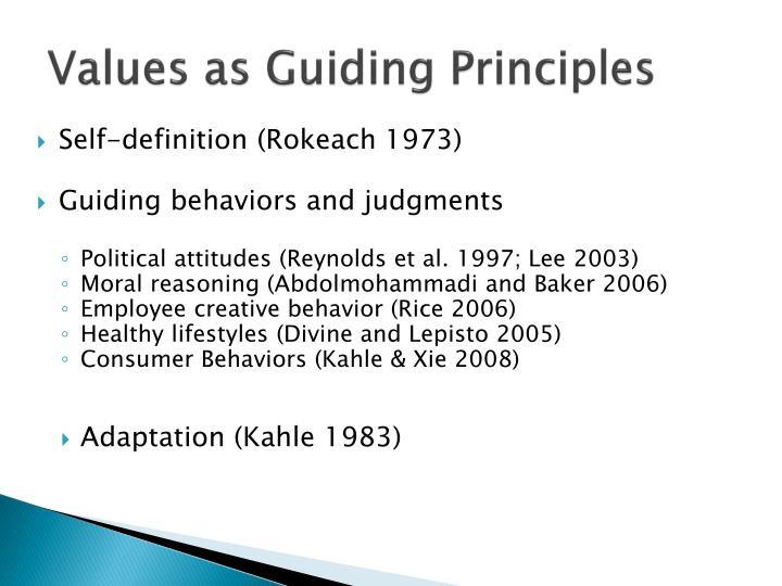 Values as Guiding Principles