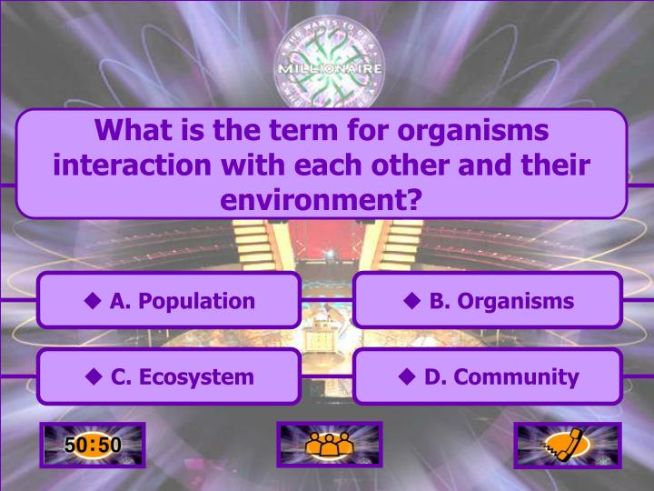 What is the term for organisms interaction with each other and their environment?