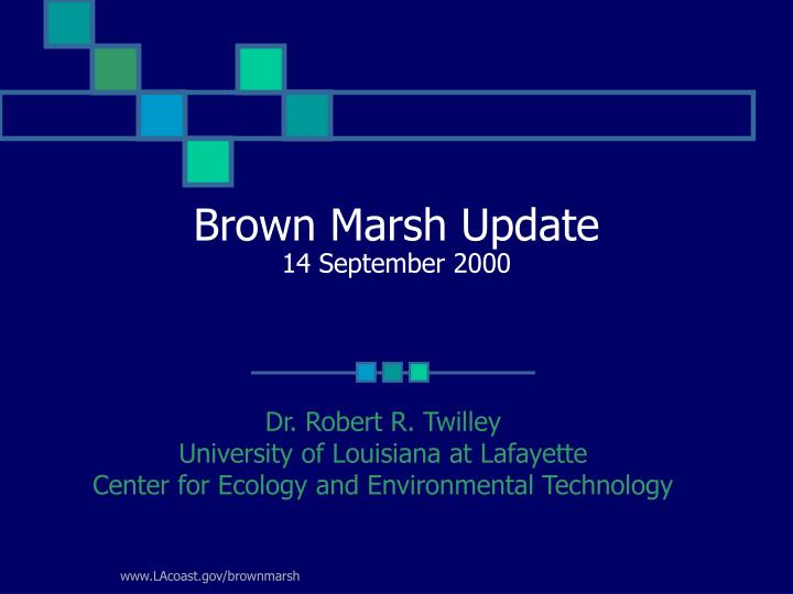 brown marsh update 14 september 2000 n.