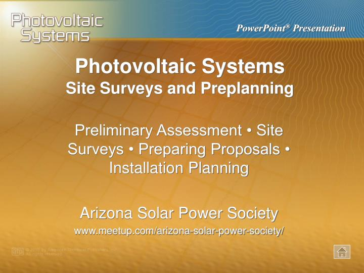 photovoltaic systems n.