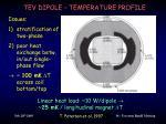 tev dipole temperature profile
