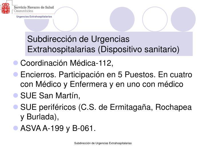 Subdirección de Urgencias Extrahospitalarias (Dispositivo sanitario)