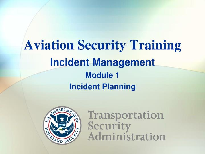aviation security training n.