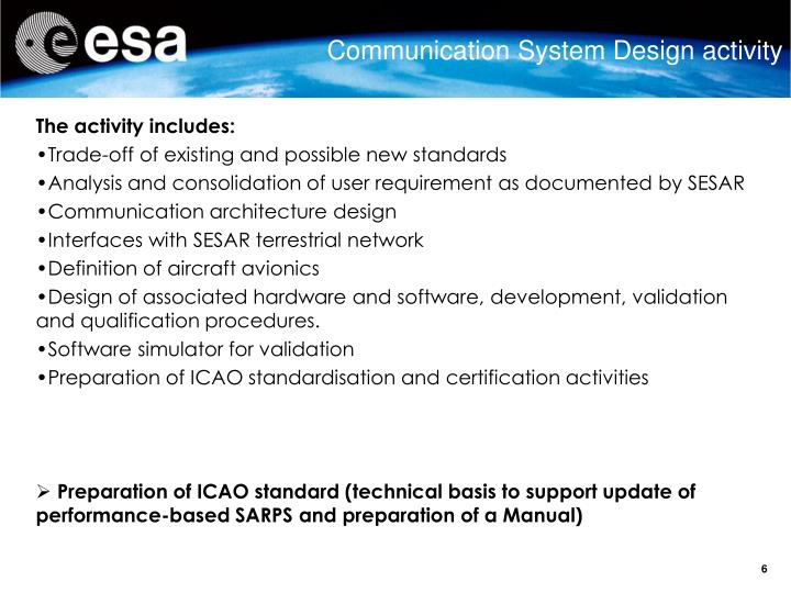 Communication System Design activity