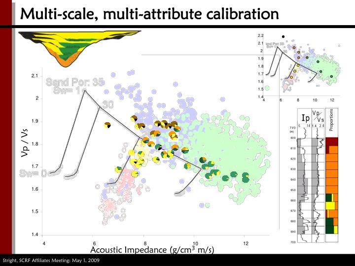 Multi-scale, multi-attribute calibration