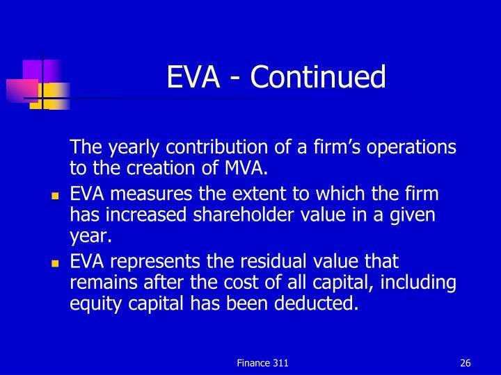 EVA - Continued