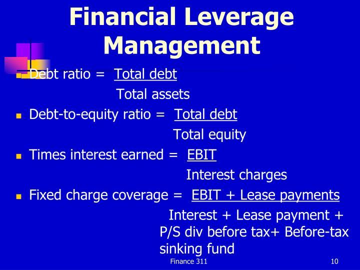 Financial Leverage Management
