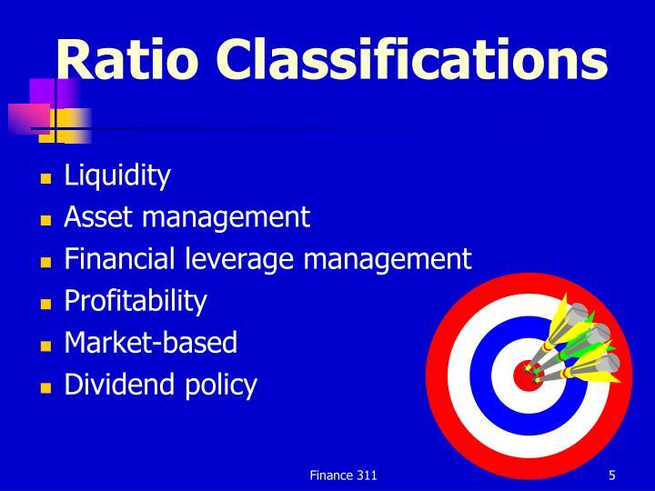 Ratio Classifications