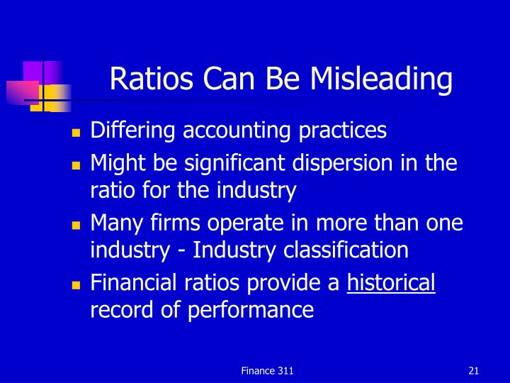 Ratios Can Be Misleading