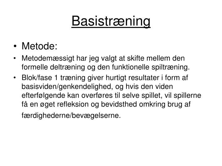 Basistræning