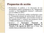 propuestas de acci n