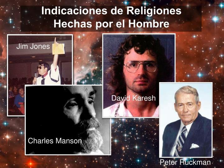 Indicaciones de Religiones