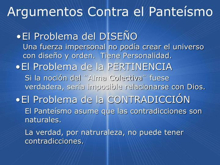 Argumentos Contra el Panteísmo