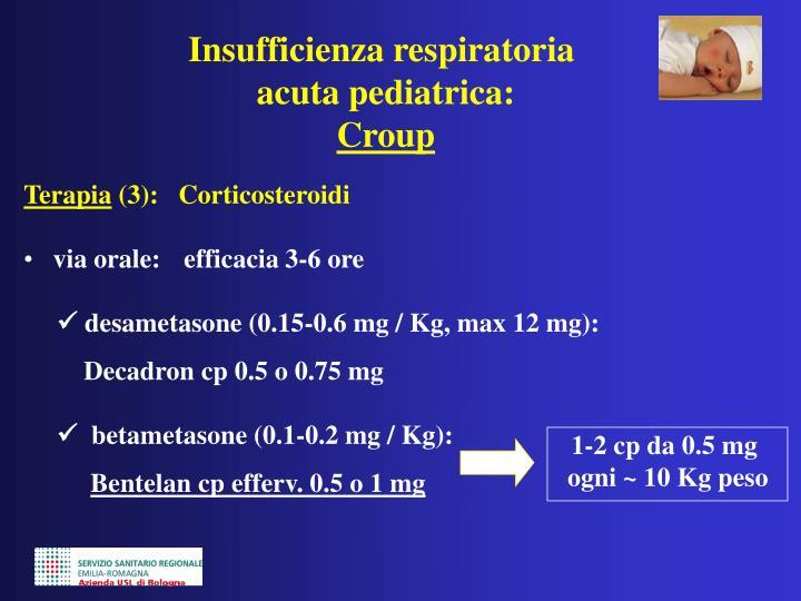 1-2 cp da 0.5 mg