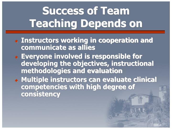 Success of Team