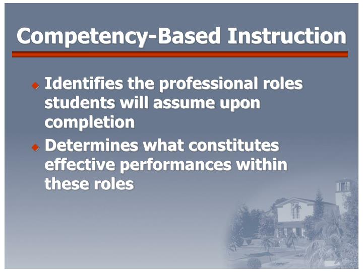 Competency-Based Instruction