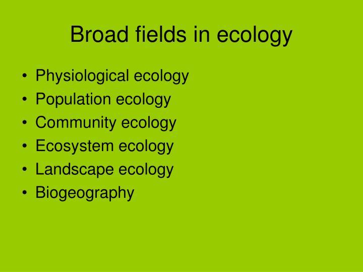 Broad fields in ecology