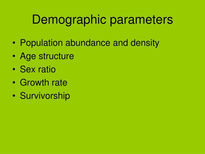 Demographic parameters