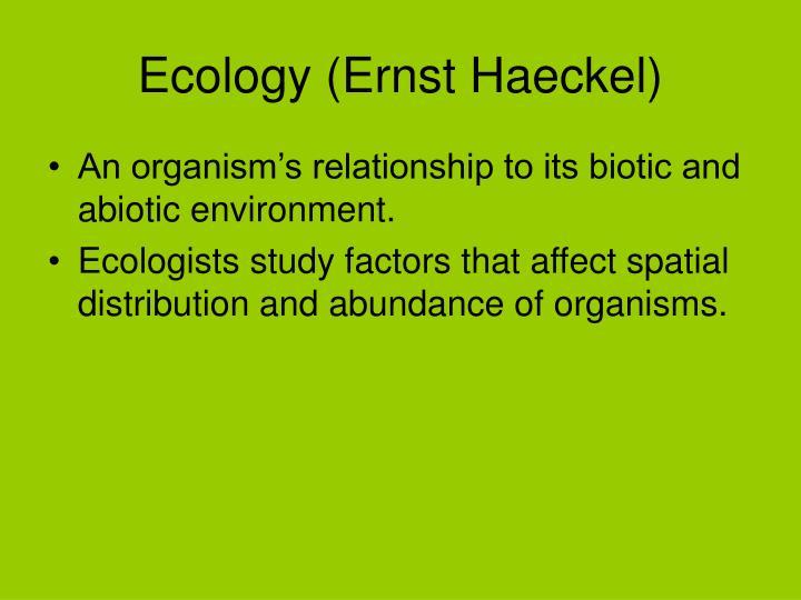 Ecology (Ernst Haeckel)