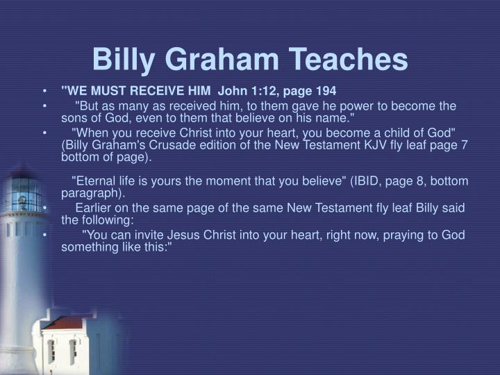 Billy Graham Teaches