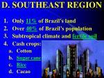 d southeast region