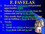 f favelas