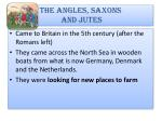 the angles saxons and jutes