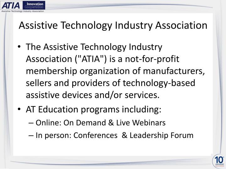 Assistive technology industry association